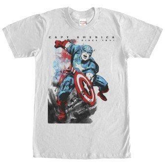 Captain America Watercolor Print Tshirt