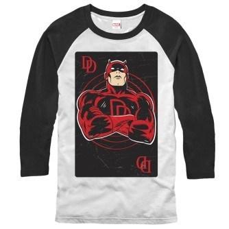 Daredevil Playing Card Baseball Shirt