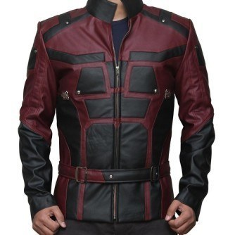 Daredevil Matt Murdock Red and Black Leather Jacket